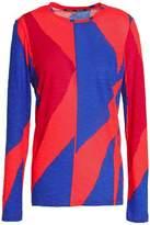 Proenza Schouler Color-Block Slub Cotton-Jersey Top