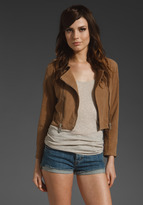 DOMA Cropped Suede Jacket