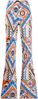 Emilio Pucci Geometric Print Flared Trousers
