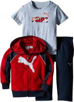 Puma Baby-Boys Reflective Cat Full Zip Hoodie with Matching Pant and No. 1 Logo Tee