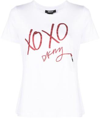 DKNY logo-print T-shirt