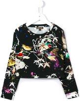 Roberto Cavalli bird print jumper
