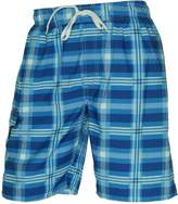 Newport Blue Newport Upstairs Plaid Swim Shorts