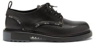 Valentino Vltn-accent Leather Derby Shoes - Black