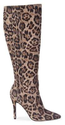 Charles by Charles David Professional Leopard-Print Mid-Calf Boots