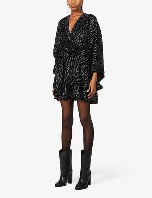 Zadig & Voltaire Ruffled velvet mini dress