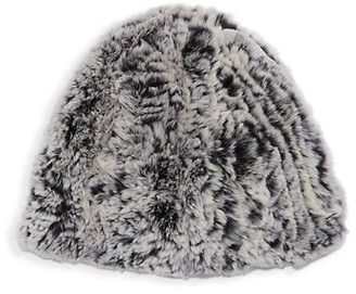 Belle Fare Dyed Rex Rabbit Fur Beanie