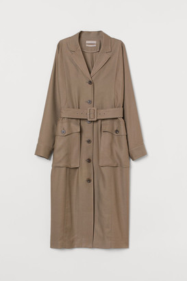 H&M Lyocell-blend Dress - Beige