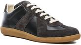 Maison Margiela Calfskin & Suede Replica Sneakers