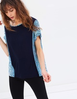 Oasis Scarf Side Patched Tee