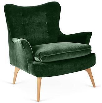 Kim Salmela Sonja Accent Chair - Emerald Velvet