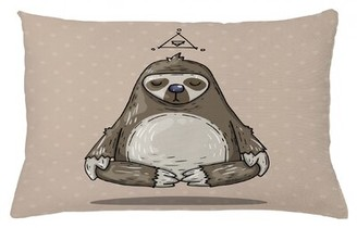 "East Urban Home Sloth Indoor/Outdoor Lumbar Pillow Cover Size: 16"" x 26"""