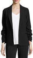 Elizabeth and James Myrla Ruched-Sleeves Blazer, Black
