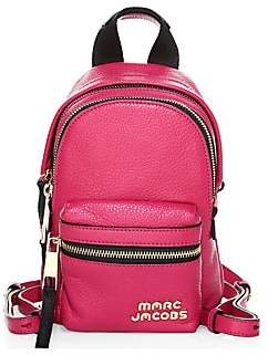 Marc Jacobs Women's Micro Logo Leather Backpack