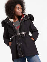 Lucky Brand Parka Jacket With Removable Faux Fur Vest