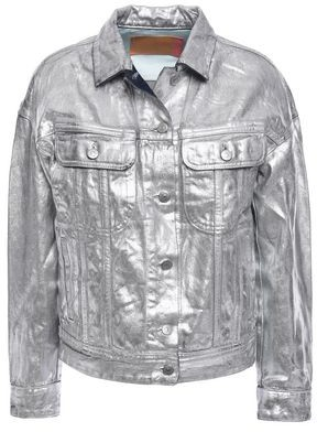 Acne Studios Metallic Coated Denim Jacket