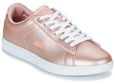 Lacoste CARNABY EVO 118 7 women's Shoes (Trainers) in Pink