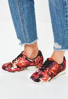 Missguided Red Palm Printed Sneakers