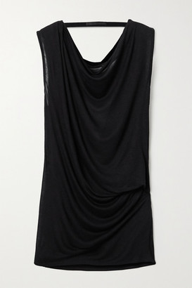 Helmut Lang Draped Open-back Jersey Top - Black