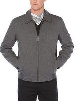 Perry Ellis Zip-Front Heathered Jacket