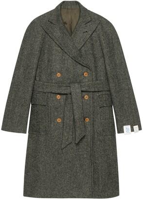 Gucci Herringbone wool coat