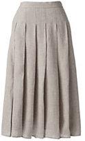 Classic Women's Petite Linen A-line Skirt-Stone
