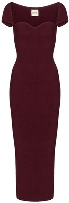 KHAITE Exclusive to Mytheresa Allegra stretch-knit midi dress