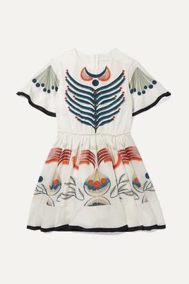 Chloé Kids Ages 6 - 12 Printed Silk Crepe De Chine Dress