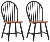 Boraam Farmhouse Chair in Black/Cherry (Set of 2)