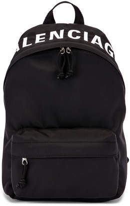 Balenciaga Small Wheel Backpack in Black & Black | FWRD