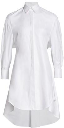 UNTTLD Vented Back Asymmetric Shirtdress