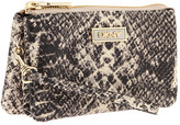 DKNY - Python Leather Small 3 Pocket Wristlet