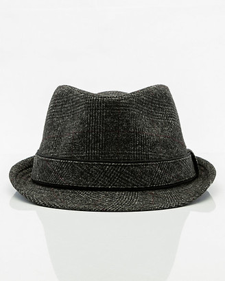 Le Château Check Print Wool Blend Fedora Hat