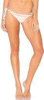 Anna Kosturova Savannah Bikini Bottom in White. - size L (also in M,S,XS)