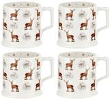 Spode Glen Lodge Stag Tankard Mugs (Set of 4)