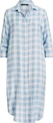 Ralph Lauren Plaid Long Nightshirt