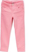 U.S. Polo Assn. Neon Light Pink Stretch Sateen Twill Pants - Toddler & Girls