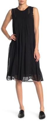 Lucky Brand Swiss Dot Sleeveless Dress