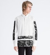 A Question Of White Marble Boxes Oxford Shirt