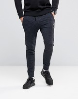 Religion Joggers in Flecked Jersey with Zip Opening