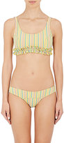 Lisa Marie Fernandez Women's Colby Striped Seersucker Bikini
