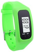 Unisex Fashion Digital LCD Pedometer,Ninasill Run Step Walking Distance Calorie Counter Watch Bracelet(Green)