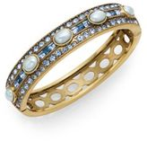 Heidi Daus Oh So Oval Swarovski Crystal Bangle/Goldtone