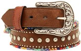 Nocona Frayed Studded Leather Belt (For Women)