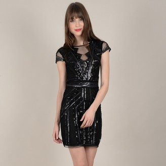 Molly Bracken Shift Short Dress with Sequins
