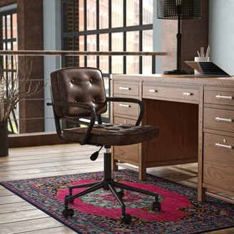 Three Posts Gianluca Task Chair Upholstery Color: Brown