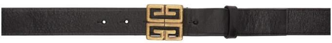 Givenchy Black Engraved 4G Belt