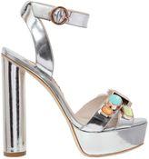 Sophia Webster 130mm Amanda Embellished Leather Sandals