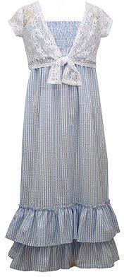 Bonnie Jean Big Kid Girls Sleeveless Striped Maxi Dress