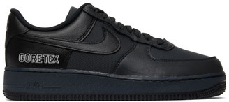 Nike Black and Grey Gore-Tex Air Force 1 Sneakers